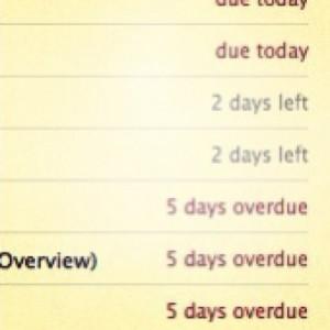 overdue task list